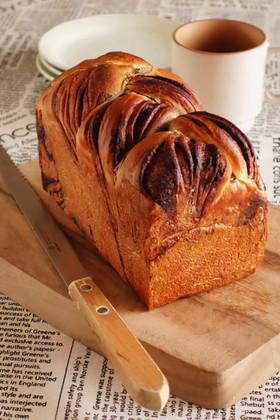 三つ編みチョコマーブルパン(HB使用)