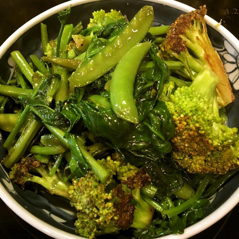 超簡単☆緑の野菜のオイル蒸し