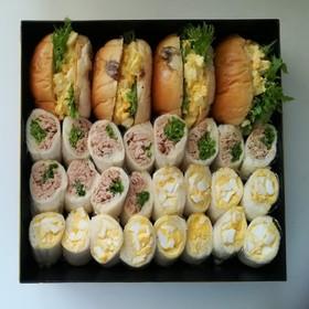 お弁当にべんりなクルクル★サンドイッチ