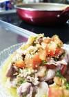 おろしキュウリと角切りトマトの豚サラダ