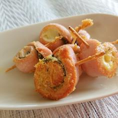 魚肉ソーセージのクルクル巻き