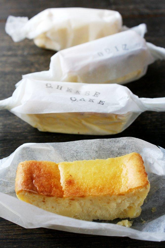 半熟卵のチーズケーキ