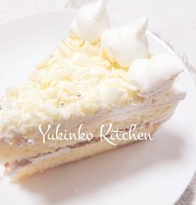 ふわふわ!ホワイトチョコケーキ