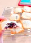 材料2つ!餡子と食パンの簡単お菓子♡