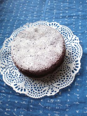 甜菜糖を使ったプチガトーショコラ