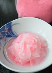 常備菜❀桜でんぶ再利用!大根の桜漬