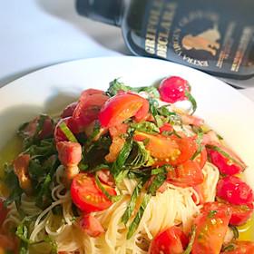 オリーブオイル&3種のトマト素麺