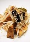 鶏手羽&厚揚げの塩ダレ炒め
