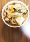 春雨のチゲ風スープ
