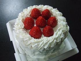 いちごのふわふわショートケーキ。