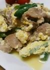 いんげんと豚肉の簡単豆腐チャンプル