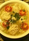 簡単!豆腐の肉団子とレタスの和風スープ