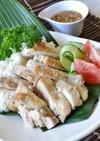 タイ風蒸し鶏ライス(カオマンガイ)♪