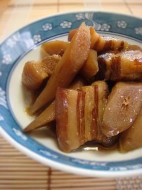 圧力鍋で作る豚バラ肉とごぼうの煮物