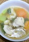 アマニ油でコク♡チキンとミニトマトスープ