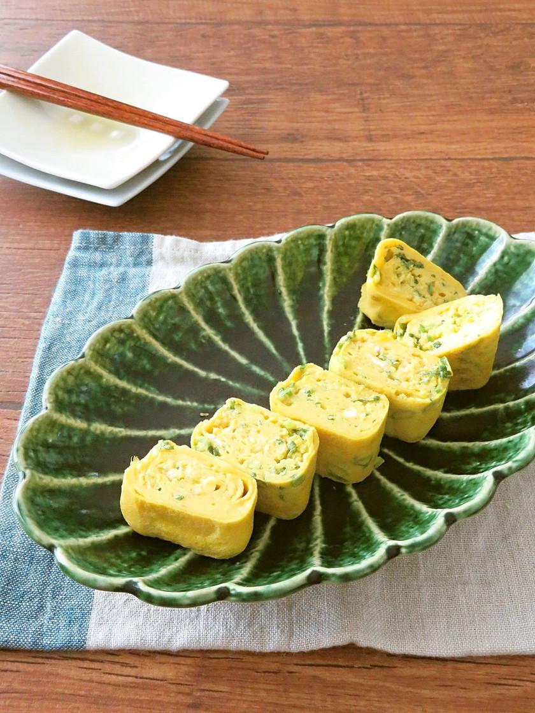 ねぎと生姜の出汁巻き卵焼き☆お弁当にも♪