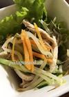 レンジで♪ムネ肉とモヤシの中華風サラダ