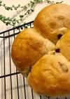ちぎりパン in飲むヨーグルト&レーズン