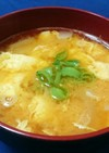 美味玉ねぎ溶き卵のコチュジャン入り味噌汁