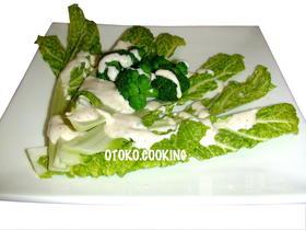 シャキシャキ白菜シーザーサラダ