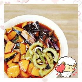 マクロビ☆夏野菜の揚げ浸し