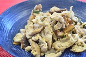 バジル香る☆豚肉と干し椎茸のにんにく炒め
