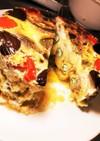 深谷ねぎの天ぷらミルフィーユで卵焼きなん