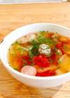 母の味〜白だしで作る和風トマトスープ