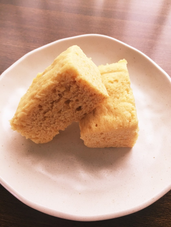 プリンとHMだけ!簡単レンジ蒸しパン