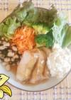 チキン南蛮と豆とひじきサラダプレート