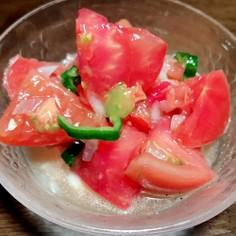 新玉ねぎとトマトのマリネ