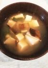椎茸と豆腐とニラの味噌汁