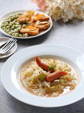 スッキリ♡キャベツを食べるサワースープ!