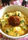 春菊と舞茸の卵雑炊