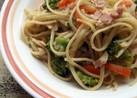 ベーコンとたっぷり野菜のコクうまパスタ