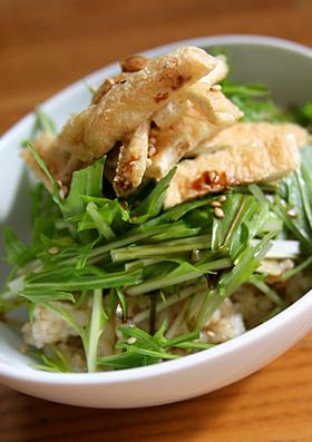 初段マクロビ 玄米水菜どんぶり