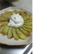 焼きりんご★ヨーグルトクリーム添え