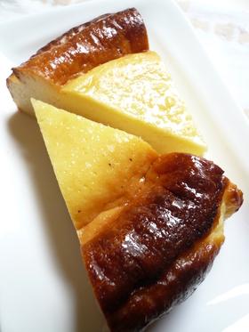 ベイクドチーズケーキ。