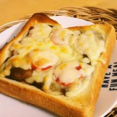 ☆カレーとトマトのチーズトースト☆