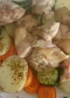 アマニ油でホロ柔らか!チキンと野菜蒸し