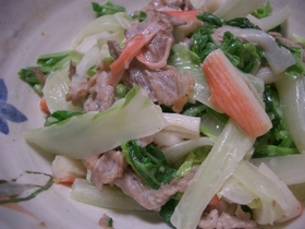 豚と白菜のおかずサラダ