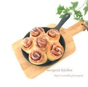 捏ねずに簡単♡シナモンロールのちぎりパンの写真