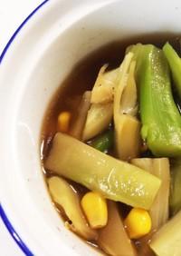 (お弁当)ブロッコリーカリフラワーの茎煮