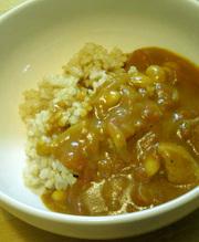 ヒラメキ☆トマトと大豆のポークカレーの写真