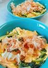 簡単!小松菜と油揚げの卵とじ