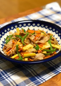 豚肉とたっぷり野菜のオイマヨ炒め
