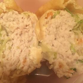 高タンパク低糖質☆簡単薄揚げ鶏野菜バーグ