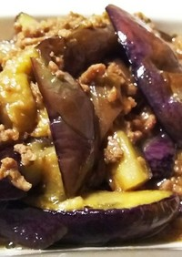 ひき肉と茄子のしょうゆ味噌煮