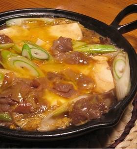 肉豆腐の卵とじ