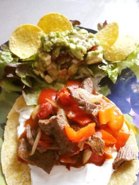 牛肉でファフィータ*簡単メキシカン